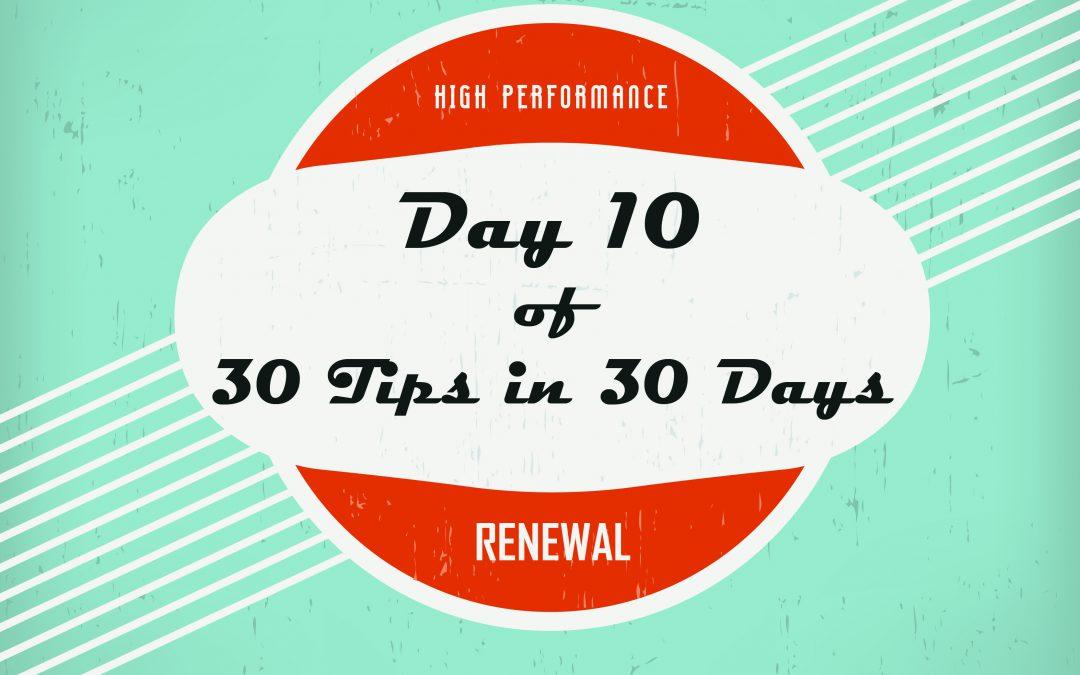 "Tip 10:  Making it ""Affordable"""