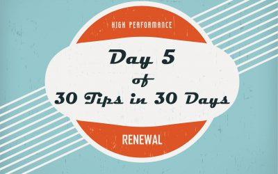 Tip 5:  30 days of Looking the Other Way